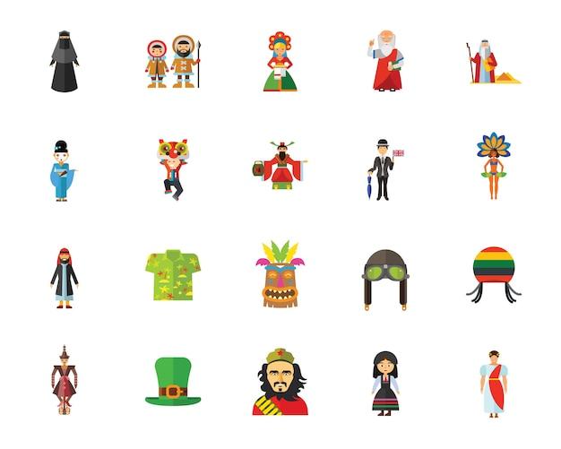 Set di icone di cultura