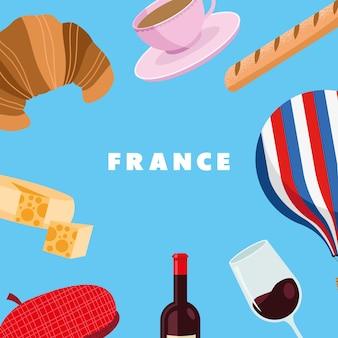 Icone della cultura della francia