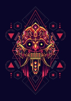 Cultura maschera geometria sacra