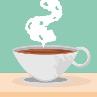 Tazza di caffè calda
