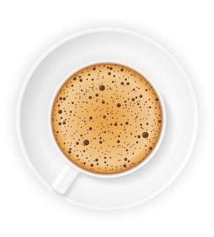 Tazza di caffè su bianco
