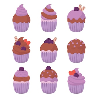 Cupcake illustrazione vettoriale