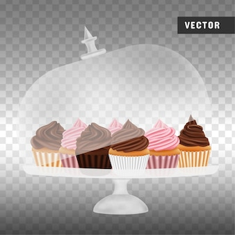 Cupcakes in basamento della torta