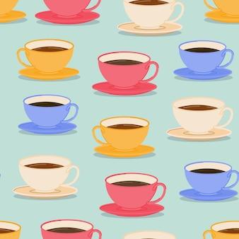 Modello di tazze di caffè