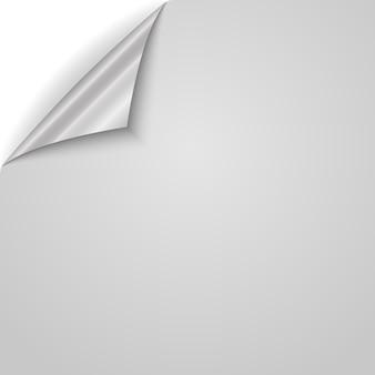 Angolo di carta arricciato. illustrazione.