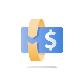 Cambio valuta, illustrazione del ritorno degli investimenti