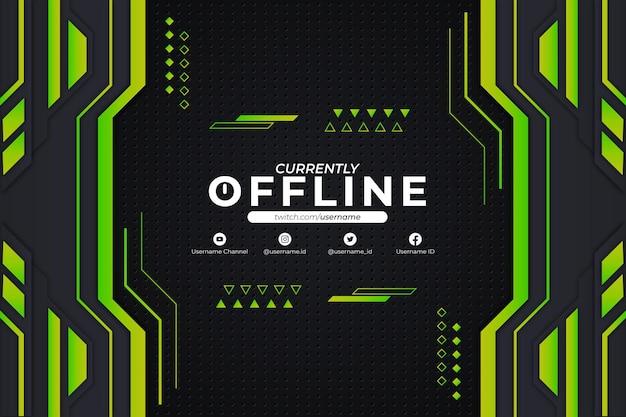 Sfondo verde attualmente offline