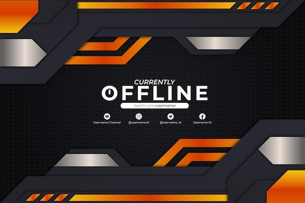 Stile arancione di sfondo attualmente offline