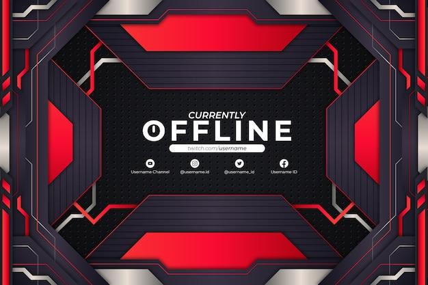 Stile di sfondo rosso attualmente offline
