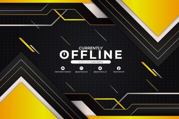 Stile giallo sfondo attualmente non in linea