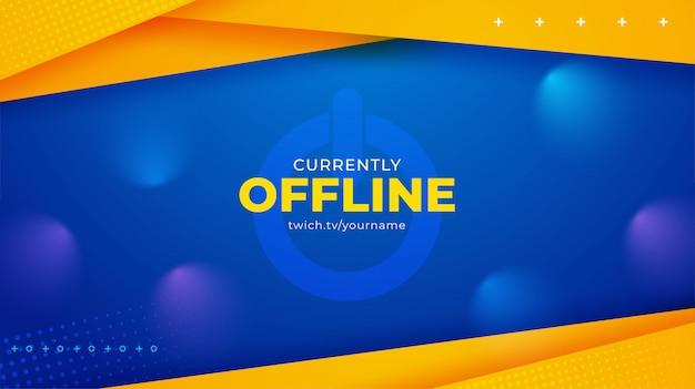 Banner in background per lo streaming attualmente offline