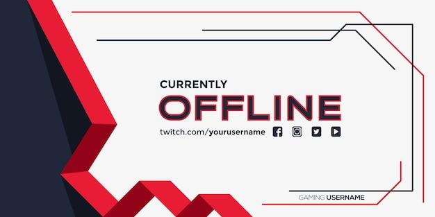 Banner twitch attualmente offline