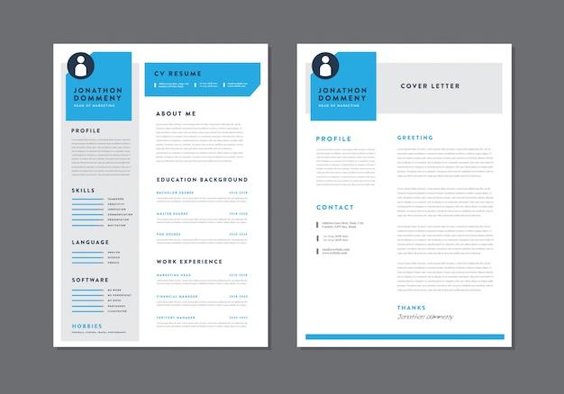 Curriculum vitae cv riprendi template design | dettagli personali per la domanda di lavoro