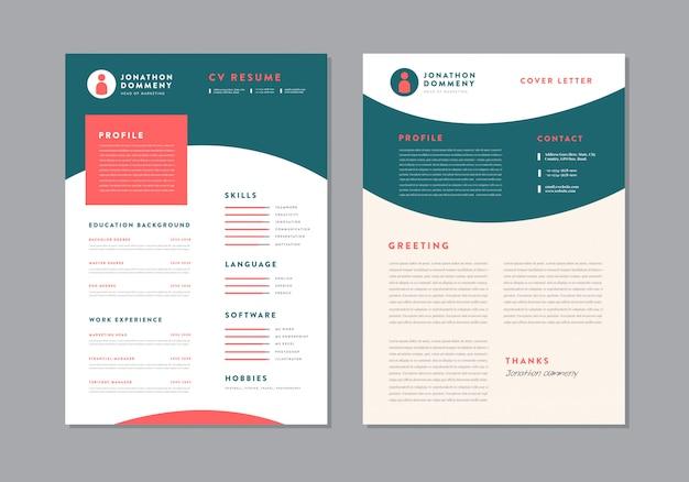 Curriculum vitae modello di curriculum cv design | dettagli personali per domanda di lavoro
