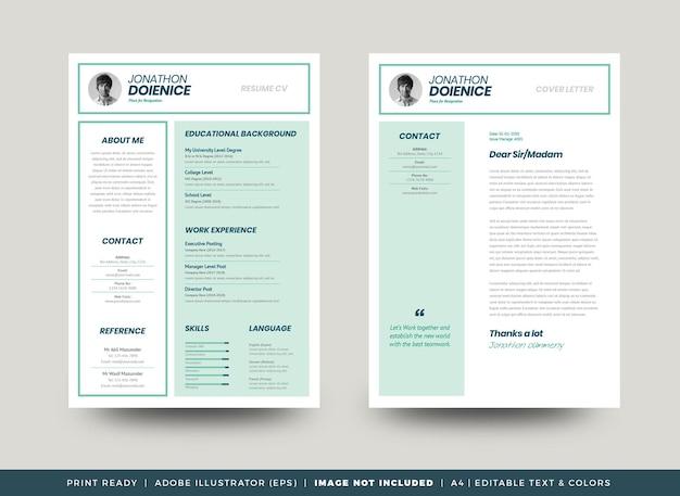 Curriculum vitae cv curriculum modello di progettazione o dettagli personali per la domanda di lavoro