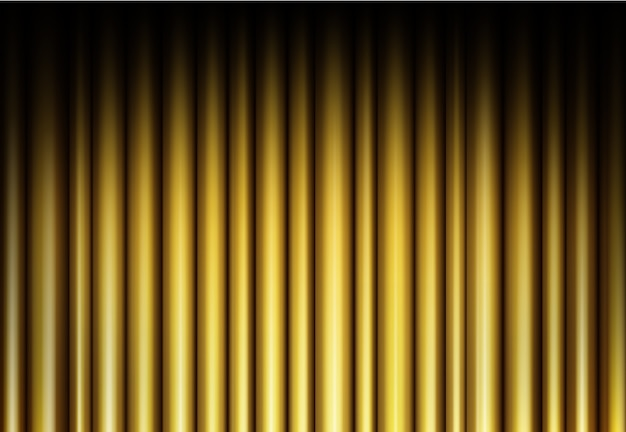 Sipario su sfondo dorato