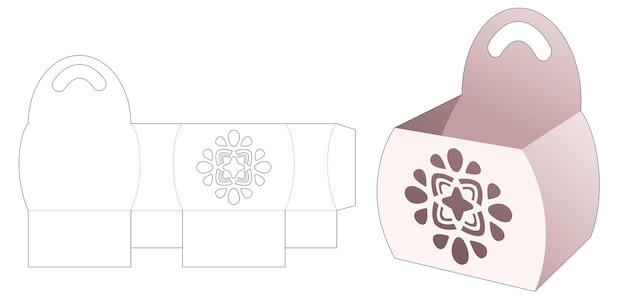 Ciotola laterale curva con manico e modello fustellato con mandala stampato