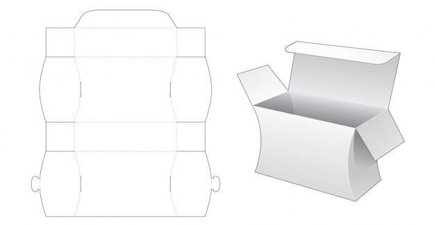 Modello fustellato scatola confezione laterale curva