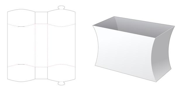 Modello fustellato di scatola di cancelleria laterale curva