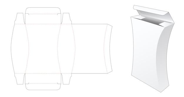 Modello fustellato di scatola alta laterale curva