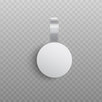 Mockup di wobbler pubblicitario personalizzato in stile realistico