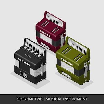 Set di fisarmoniche isometriche personalizzate