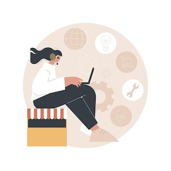 Illustrazione dell'assistenza clienti