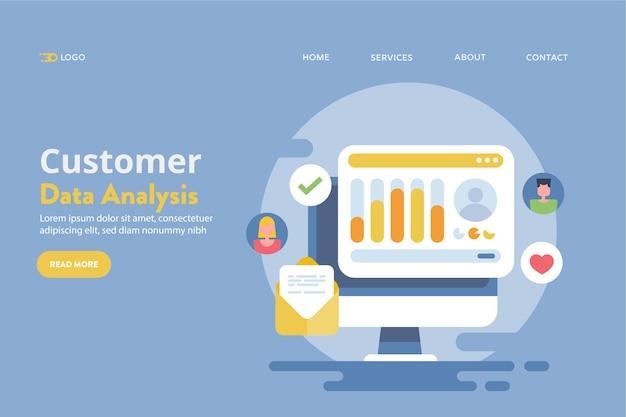 Concetto di crm per i dati dei clienti
