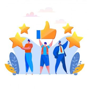 Feedback dei clienti prople rating con stelle