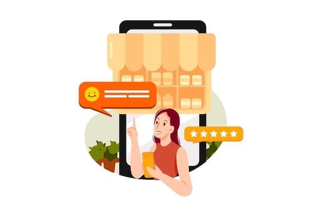 Cliente che dà una recensione negativa al prodotto