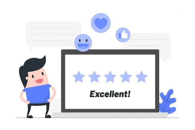 Valutazione della recensione del cliente.