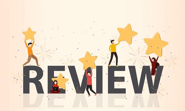 Concetto di recensioni dei clienti