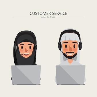 Servizio clienti di sfondo call center arabo