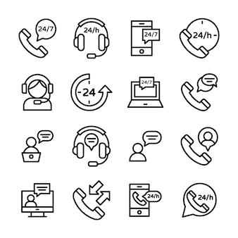 Icone di servizio clienti e assistenza clienti