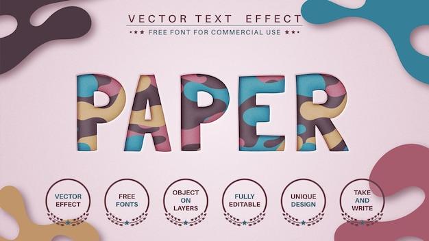 Taglia la carta modifica lo stile del carattere dell'effetto del testo