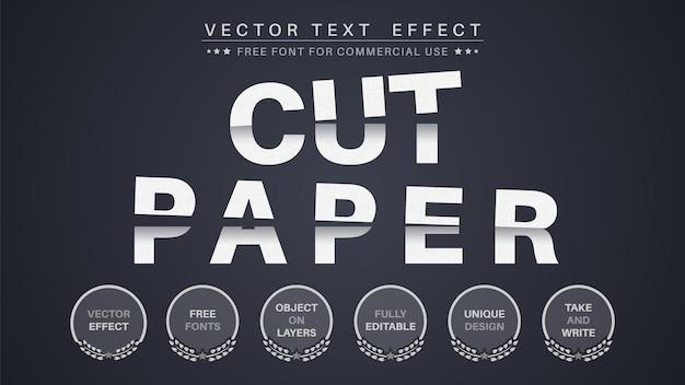 Taglia effetto testo su carta