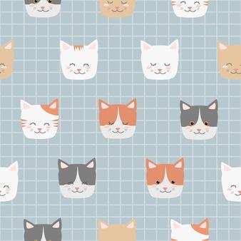 Fumetto adorabile sveglio dell'animale del gattino del gatto del bambino