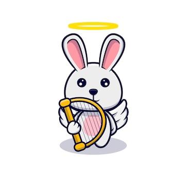 Simpatico coniglietto angelo