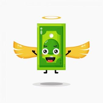 Illustrazione sveglia di progettazione dei soldi di angelo
