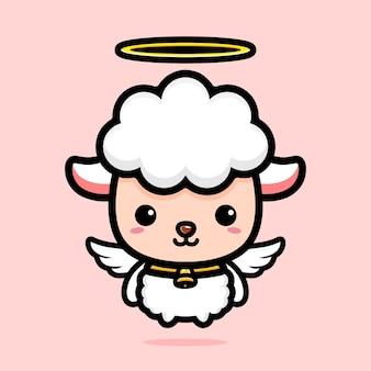 Simpatico personaggio di pecora angelo