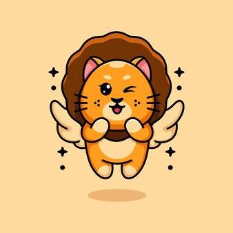 Carino, angolo, re leone, volare