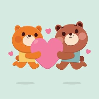 Illustrazione di orso animale carino