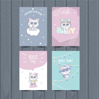 Simpatiche carte animali per bambini
