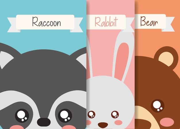 Simpatico cartone animato animale