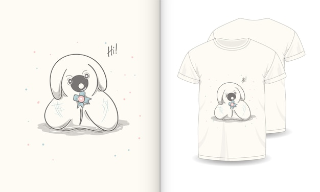 Immagini di animali carini con t-shirt per bambini.