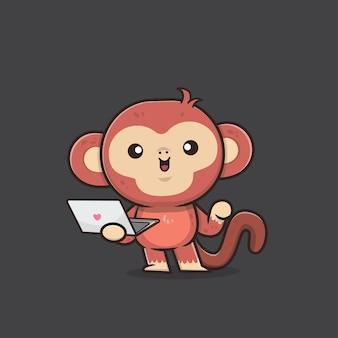Illustrazione di scimmia animale carino