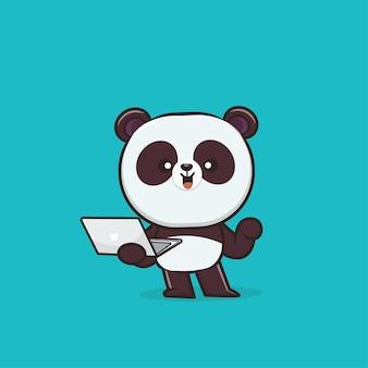 Simpatico personaggio di panda animale