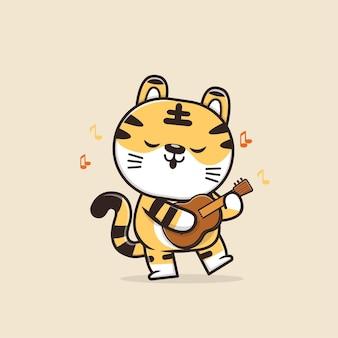 Simpatico personaggio di tigre animale