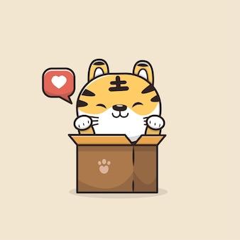 Illustrazione di tigre animale carino