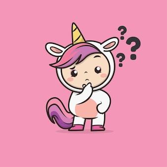 Illustrazione di unicorno animale carino